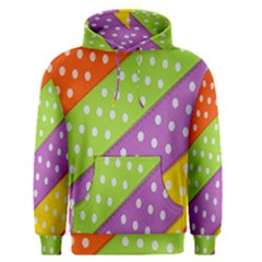 Colorful Easter Ribbon Background Men s Pullover Hoodie
