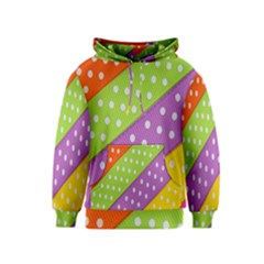 Colorful Easter Ribbon Background Kids  Pullover Hoodie by Simbadda