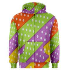 Colorful Easter Ribbon Background Men s Zipper Hoodie by Simbadda