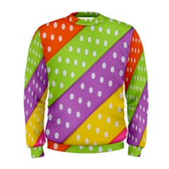 Colorful Easter Ribbon Background Men s Sweatshirt by Simbadda