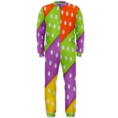 Colorful Easter Ribbon Background OnePiece Jumpsuit (Men)  by Simbadda