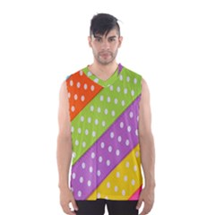 Colorful Easter Ribbon Background Men s Basketball Tank Top by Simbadda