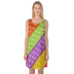 Colorful Easter Ribbon Background Sleeveless Satin Nightdress