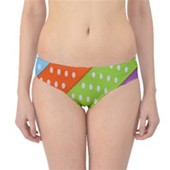 Colorful Easter Ribbon Background Hipster Bikini Bottoms by Simbadda