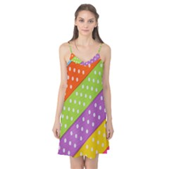 Colorful Easter Ribbon Background Camis Nightgown by Simbadda