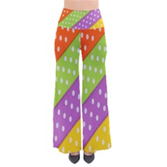 Colorful Easter Ribbon Background Pants by Simbadda