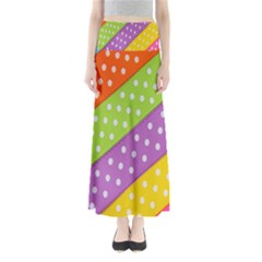 Colorful Easter Ribbon Background Maxi Skirts by Simbadda