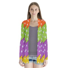 Colorful Easter Ribbon Background Cardigans by Simbadda