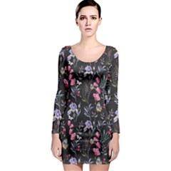 Wildflowers I Long Sleeve Bodycon Dress