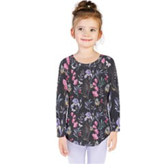 Wildflowers I Kids  Long Sleeve Tee