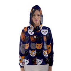 Cat  Hooded Wind Breaker (women) by BubbSnugg