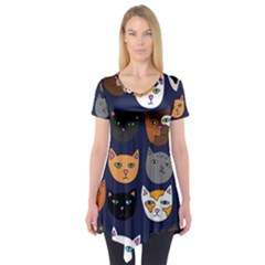 Cat  Short Sleeve Tunic  by BubbSnugg