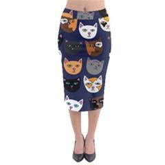 Cat  Midi Pencil Skirt by BubbSnugg
