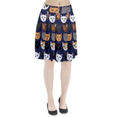 Cat  Pleated Skirt