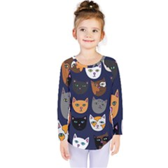 Cat  Kids  Long Sleeve Tee