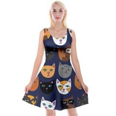 Cat  Reversible Velvet Sleeveless Dress