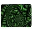 Fractal Drawing Green Spirals Samsung Galaxy Tab 7  P1000 Flip Case View1