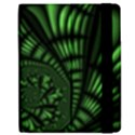 Fractal Drawing Green Spirals Samsung Galaxy Tab 7  P1000 Flip Case View2