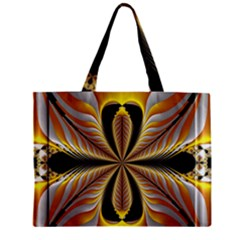 Fractal Yellow Butterfly In 3d Glass Frame Zipper Mini Tote Bag