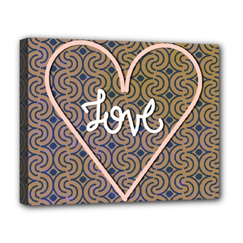 I Love You Love Background Deluxe Canvas 20  X 16   by Simbadda