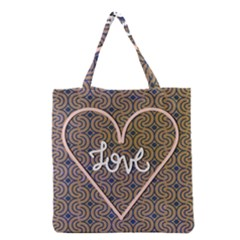 I Love You Love Background Grocery Tote Bag by Simbadda