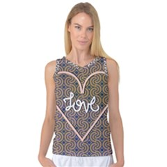 I Love You Love Background Women s Basketball Tank Top