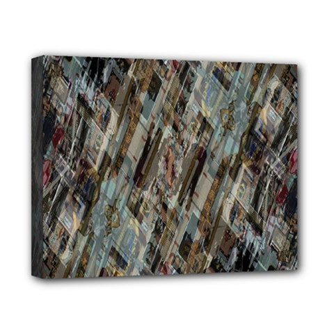 Abstract Chinese Background Created From Building Kaleidoscope Canvas 10  X 8  by Simbadda