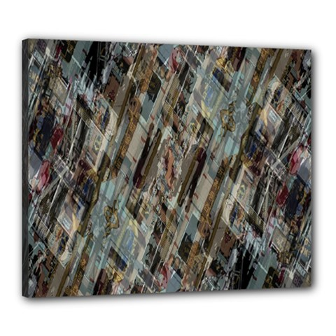 Abstract Chinese Background Created From Building Kaleidoscope Canvas 24  X 20  by Simbadda