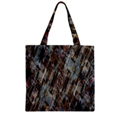 Abstract Chinese Background Created From Building Kaleidoscope Zipper Grocery Tote Bag by Simbadda