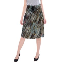 Abstract Chinese Background Created From Building Kaleidoscope Midi Beach Skirt by Simbadda