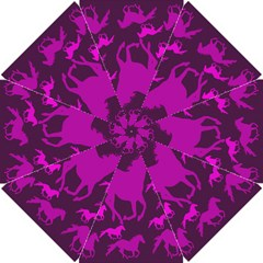 Pink Horses Horse Animals Pattern Colorful Colors Golf Umbrellas by Simbadda