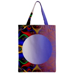 Texture Circle Fractal Frame Zipper Classic Tote Bag by Simbadda
