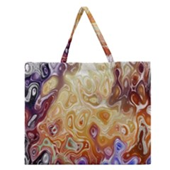Space Abstraction Background Digital Computer Graphic Zipper Large Tote Bag by Simbadda