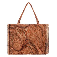 3d Glass Frame With Fractal Background Medium Tote Bag by Simbadda