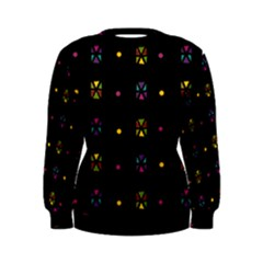 Abstract A Colorful Modern Illustration Black Background Women s Sweatshirt