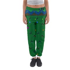 Green Abstract A Colorful Modern Illustration Women s Jogger Sweatpants by Simbadda