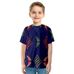 Abstract A Colorful Modern Illustration Kids  Sport Mesh Tee by Simbadda
