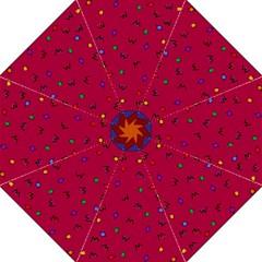 Red Abstract A Colorful Modern Illustration Hook Handle Umbrellas (large) by Simbadda