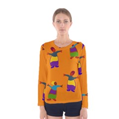 A Colorful Modern Illustration For Lovers Women s Long Sleeve Tee by Simbadda