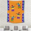 A Colorful Modern Illustration For Lovers Medium Tapestry View2
