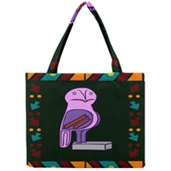 Owl A Colorful Modern Illustration For Lovers Mini Tote Bag by Simbadda