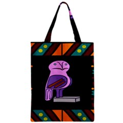 Owl A Colorful Modern Illustration For Lovers Zipper Classic Tote Bag by Simbadda