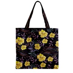 Wildflowers Ii Zipper Grocery Tote Bag