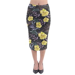 Wildflowers Ii Midi Pencil Skirt