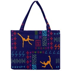 A Colorful Modern Illustration For Lovers Mini Tote Bag by Simbadda
