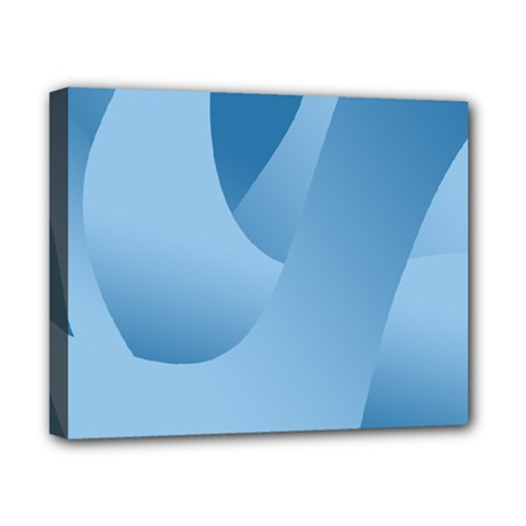 Abstract Blue Background Swirls Canvas 10  X 8  by Simbadda