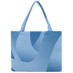 Abstract Blue Background Swirls Mini Tote Bag by Simbadda