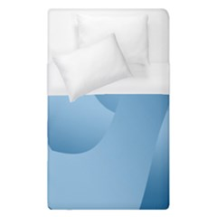 Abstract Blue Background Swirls Duvet Cover (single Size)