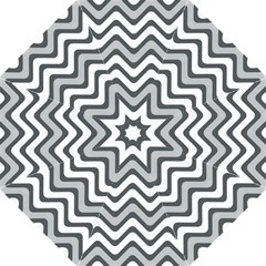 Shades Of Grey And White Wavy Lines Background Wallpaper Hook Handle Umbrellas (large) by Simbadda