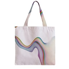 Abstract Ribbon Background Zipper Grocery Tote Bag by Simbadda